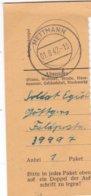 German Feldpost WW2: Packet Receipt Posted By Soldier In 2. Batterie Leichte Reserve-Flak-Abteilung 912 FP 39997 - Militaria