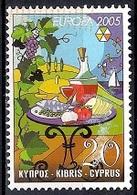Cyprus 2005 - EUROPA Stamps - Gastronomy - Chypre (République)