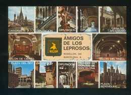 Barcelona. *Amigos De Los Leprosos* Ed. Fisa.  Circulada 1980. - Postales