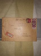 Deutsches Reich Landpost Einschreiben Brief 1936 Obergrombach Bruchsal Land Leipzig Lot 163D - Allemagne