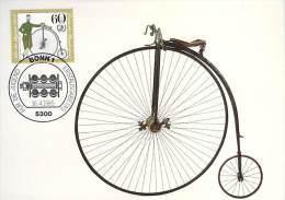 ALLEMAGNE BUND CARTE MAXIMUM NUM.YVERT 1075 HISTOIRE DE LA ICYCLETTE - [7] République Fédérale
