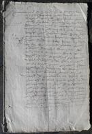 Manuscrit De 12 Pages De 1580.Belle Calligraphie à Déchiffrer. - Manuscripts