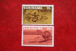 100 Jaar Consessiebeleid ; NVPH Nr: 638-639 Mi 687-688 ; 1975 MNH / Postfris SURINAME / SURINAM - Surinam ... - 1975