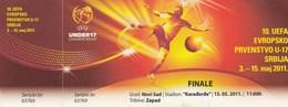 Ticket UEFA Under17 U17 Championship Final Netherlands Vs Germany  Football Match 2011. - Tickets D'entrée