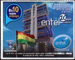 Bolivia 2018 - 19-04-2020 Prepago ENTEL MOVIL. Edificio: La Casa Grande Del Pueblo. - Bolivia