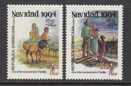 1994 Dominican Republic Dominicana Noel Navidad Christmas Complete Set Of 2 MNH - Dominicaine (République)