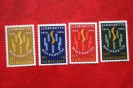 Jamborette ; NVPH 410-413 Mi 446-449 ; 1964 MNH / POSTFRIS / ** SURINAME / SURINAM - Surinam ... - 1975