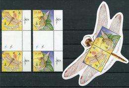 """Pitcairn - Block Nr. 53 Und Mi.Nr. Mi.Nr. 783 - 784 Gutter Pair - """"Libellen"""" (aus Dem Jahr 2009) - Timbres"""