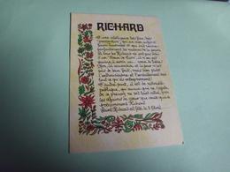 RICHARD - Prénoms