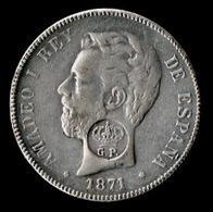 5 Pts, 1871 Amadeo I, (Moneda Falsa De época) - [ 1] …-1931 : Reino