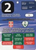 Official Pass Ticket UEFA U21 Match Serbia  Vs Republic Of Ireland 2016. National Team Under-21 - Tickets D'entrée