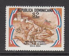 1994 Dominican Republic Dominicana  Battle March 19th Military  MNH - Dominicaine (République)