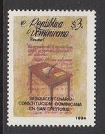 1994 Dominican Republic Dominicana  Constitution Democracy Complete Set Of 1 MNH - Dominicaine (République)