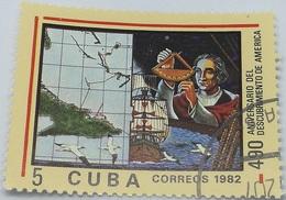 Sello 490 Aniversario Descubrimiento De América. Cristóbal Colón. República De Cuba. 5 Ct. 1982. Comunista. - Cuba