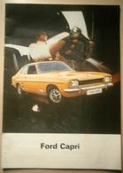 Ford Capri - Automobilia, Broschure, Broschüre, Prospekt, Autoheft, DEU - Cars
