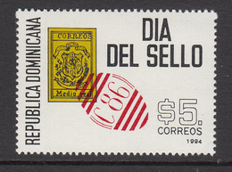 1994 Dominican Republic Dominicana  Stamp Day Philately  Complete Set Of 1 MNH - Dominicaanse Republiek