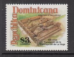 1994 Dominican Republic Dominicana  LaVega Monastery Complete Set Of 1 MNH - Dominicaine (République)