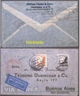 DR - Luftpostbrief Mit MiF Mi. 533 U. 537 - Gelaufen Nach Argentinien (349) - Deutschland