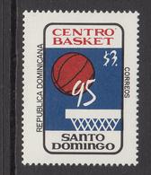 1995 Dominican Republic Dominicana Basketball Complete Set Of 1 MNH - Dominicaine (République)
