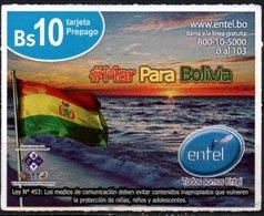 Bolivia 2018 - 19-01-2020 Prepago ENTEL MOVIL. Mar Para Bolivia. Bandera Y Playa Marina. - Bolivia