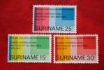 100 Jaar Meterconventie ; NVPH Nr: 646-648 Mi 695-697 ; 1975 MNH / Postfris SURINAME / SURINAM - Surinam ... - 1975