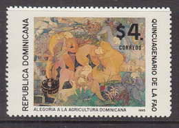 1995 Dominican Republic Dominicana  FAO Agriculture Complete Set Of 1 MNH - Dominicaanse Republiek