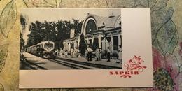 UKRAINE.  KHARKOV / Kharkiv. Pioneer RAILWAY STATION - LA GARE - BAHNHOF 1964 - Stations With Trains