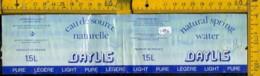 Etichetta Acqua Minerale Estera Daylis Francia - Etichette