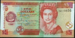 BELIZE - 5 Dollars 01.05.2016 UNC P.67 I - Belize