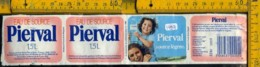 Etichetta Acqua Minerale Estera Pierval Francia - Etichette