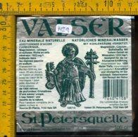Etichetta Acqua Minerale Estera Valser - Etichette