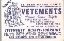 Buvard VETEMENTS ALSACE-LORRAINE 240, Rue Sainte Catherine à BORDEAUX - Textile & Clothing