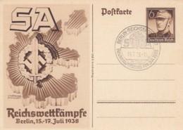 Deutsches Reich Postkarte P271 1938 + Sonderstempel - Deutschland
