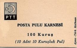 TURKEY, 1967, Booklet 14,  1.00 TL (10x10 Kurus) - 1921-... République