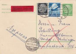 Deutsches Reich Postkarte P225 1936 Eilboten - Deutschland