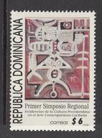 1998 Dominican Republic Dominicana  Culture Art Exhibition Complete Set Of 1 MNH - Dominicaine (République)