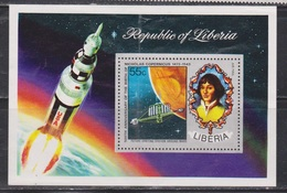 LIBERIA Scott # C200 MH - Copernicus Souvenir Sheet - Creased - Liberia