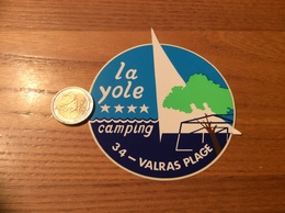 "AUTOCOLLANT, Sticker ""CAMPING La Yole - VALRAS PLAGE (34)"" - Autocollants"