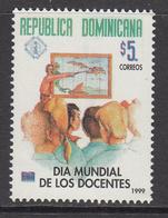 1998 Dominican Republic Dominicana  World Education Day Teacher  Complete Set Of 1 MNH - Dominicaine (République)