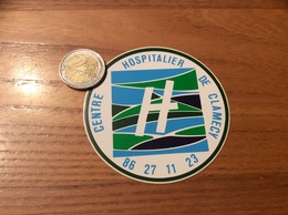 "AUTOCOLLANT, Sticker ""CENTRE HOSPITALIER - CLAMECY (58)"" - Autocollants"