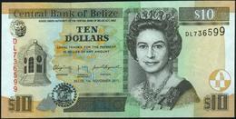 BELIZE - 10 Dollars 01.11.2011 UNC P.68 D - Belize
