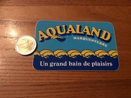 "AUTOCOLLANT, Sticker ""AQUALAND MARQUENTERRE (80)"" (parc) - Autocollants"