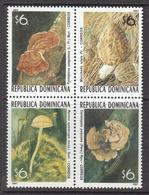 2001 Dominican Republic Dominicana  Mushrooms Fungi  Complete Block Of 4  MNH - Dominicaine (République)