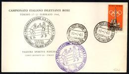 BOXING - ITALIA TORINO 1960 - CAMPIONATO ITALIANO DILETTANTI BOXE LIBERTAS - CARTONCINO UFFICIALE - Scherma