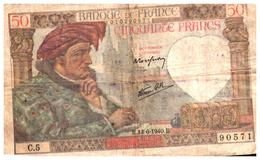 Billets > France > Jacques Coeur  50 F 13/6/1940 - 1871-1952 Anciens Francs Circulés Au XXème