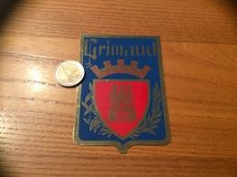 "AUTOCOLLANT, Sticker ""Grimaud (83)"" (blason) - Autocollants"