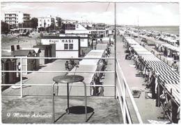 CARTOLINA - RIMINI - CV738 MISANO ADRIATICO (Rimini RN) Veduta Dei Bagni, FG, Viaggiata 1966, Ottime Condizioni - Rimini
