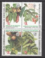 2003 Dominican Republic Dominicana  Medicinal Plants Health Complete Block Of 4  MNH - Dominicaanse Republiek