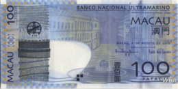Macau (BNU) 100 Patacas (P82) 2010 -UNC - - Macao