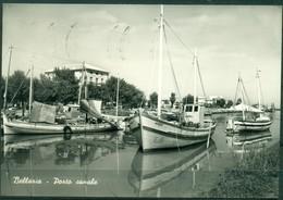 CARTOLINA - RIMINI - CV1581 BELLARIA (Rimini RN) Porto Canale, FG, Viaggiata 1958, Buone Condizioni - Rimini